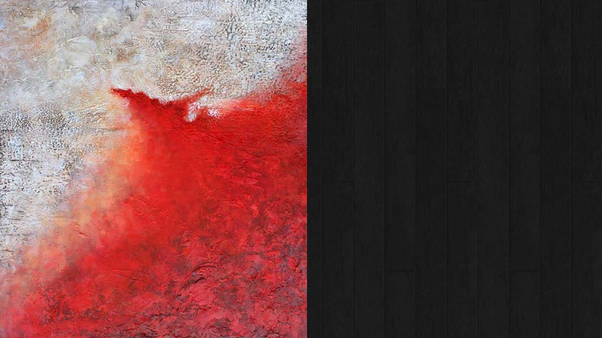 Red with White # 4 © Jo Sheppard
